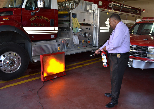 wadesboro fire department Bullex Fire Extinguisher Training
