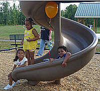 Slide at Playground at Wadesboro Park