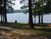 municipal lake for fishing and boat rentals
